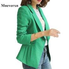 Women Blazer New Fashion Slim Coat Casual Jacket Long Sleeve One Button Suit Outerwear Blaser  Feminino Ladies Jackets FLN8601
