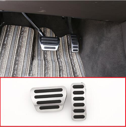 DLiQ No Drill Anti-Slip Gas Brake Pedal Cover for Land Rover Range Rover Sport 2014-2019 Land Rover Discovery 5 2017-2019