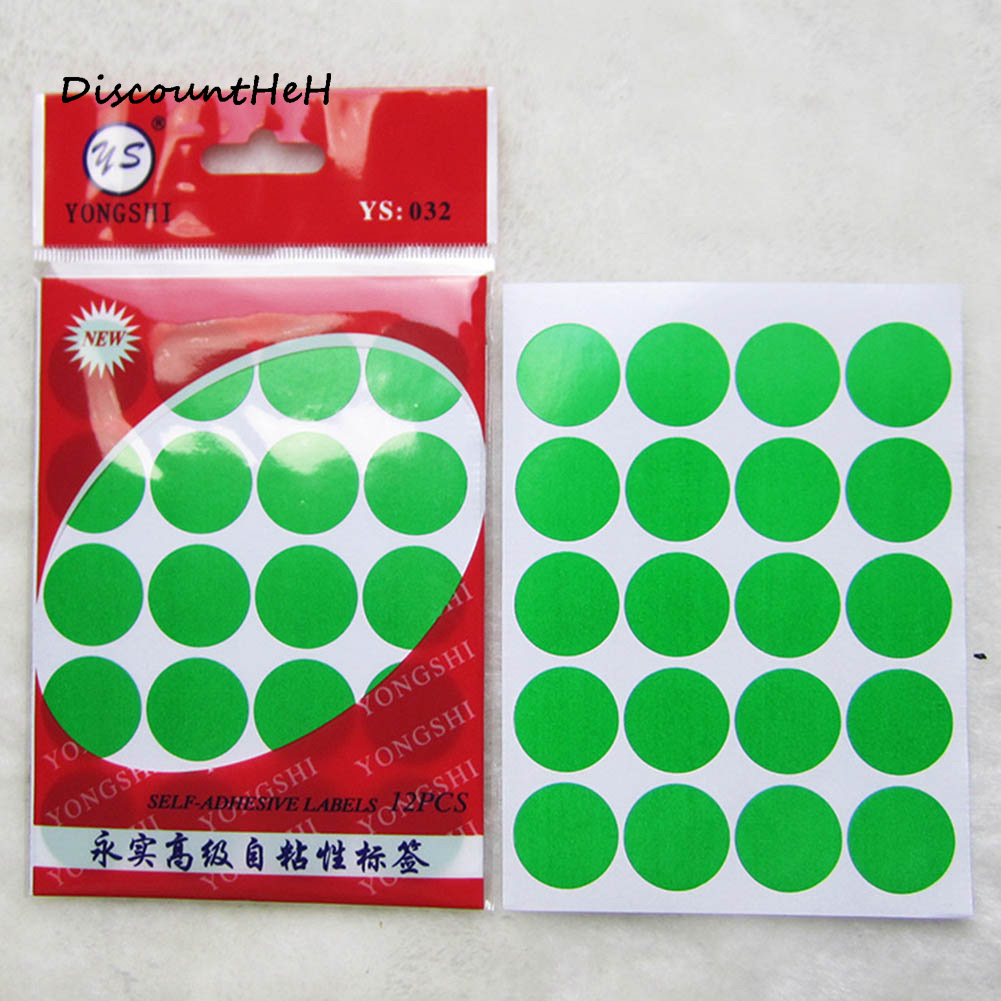 1 Pack 20mm DIY Stickers Colorful Writing Round Sticker Dot Blank Self-adhesive Circle Paper Tag