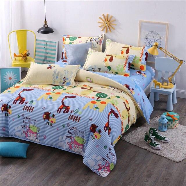 King Queen Size Luxury Bedlinen Smiley Face/fruit 4/3pc Bedding Duvet Cover Bed  Linen Flat Bed Sheet Pillow Case  Dekbedovertrek