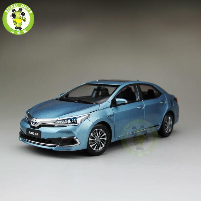 ФОТО 1:18 Toyota Corolla Hybrid Premium Diecast Model Car Blue