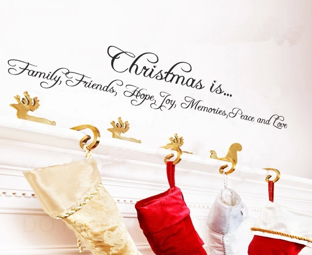 Free Shipping Christmas Is Family Friends Hope Joy Memories Peace And Love  Wall Stickers Art Quote