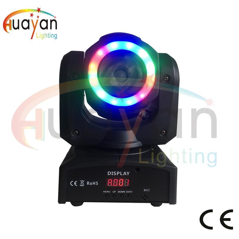 New Mini 60W LED Mini Moving Head Light DJ Beam Wash Lighting powerful Beam Wash 2in1 Moving Head light for Club DJ Party цена