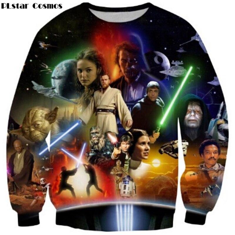PLstar Cosmos Star Wars Lightsaber Anakin Skywalker 3D imprimir Sudadera Mujer/hombres moda Streetwear jerseys gota