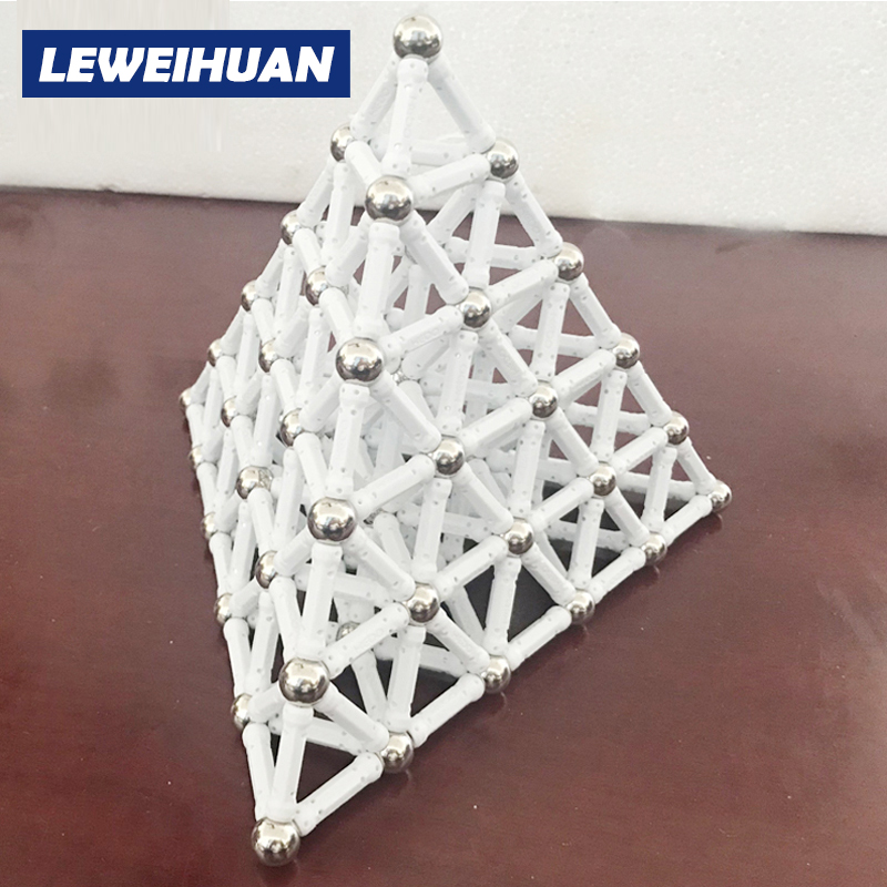 Mini Bars & Metal Balls Magnetic Blocks Educational Construction Set Models & Building Toy ABS Magnet Designer Kid Birthday Gift
