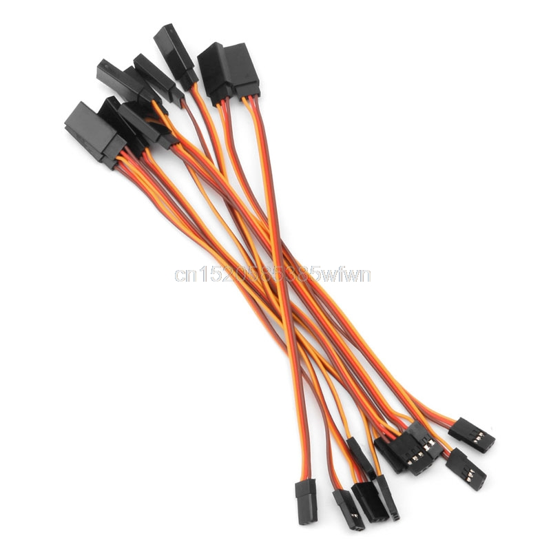 10Pcs 15cm Servo Extension Lead Wire Cable For RC Futaba JR Male to Female 150mm/200mm/300mm/500mm #HC6U# Drop shipping new 10pcs 200mm extension servo wire lead cable for rc futaba jr 20cm male to female