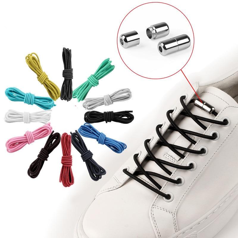 1Pair Elastic Locking Shoelaces Fashion New Women Men Adult No Tie Shoe Laces Sneakers Leather Shoes Shoelace