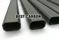 25mm X 38mm X 850mm High Quality Octagonal 3K Carbon Fiber Fabric Wound Winded Woven Tube