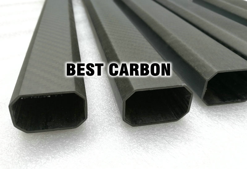 25mm X 38mm X 850mm High Quality Octagonal 3K Carbon Fiber Fabric Wound/Winded/Woven Tube Carbon Tail Boom