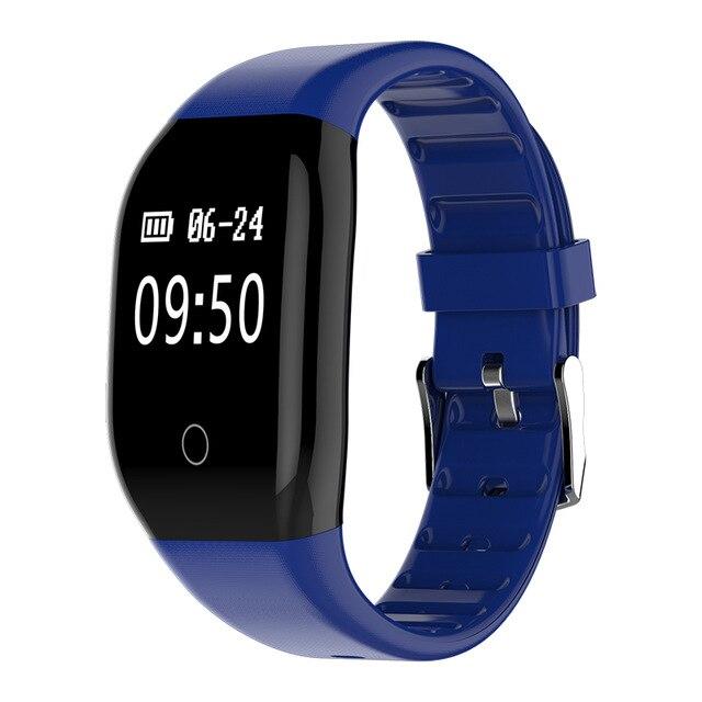 Touchpad 608HR LED Sleep Monitor de Ritmo Cardíaco Reloj Pulsera Pulsera De Fitness Inteligente Miband para adultos