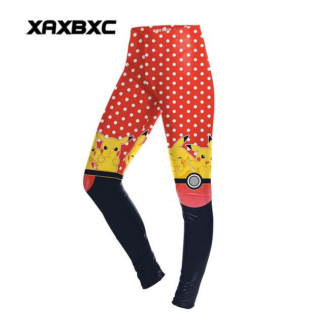 e63481fe21 US $9.0 |Aliexpress.com : Buy New Arrival 1620 Sexy Girl Women Poke Ball  Pikachu polka dot 3D Prints Elastic Fitness Polyester Walking Leggings  Pants ...