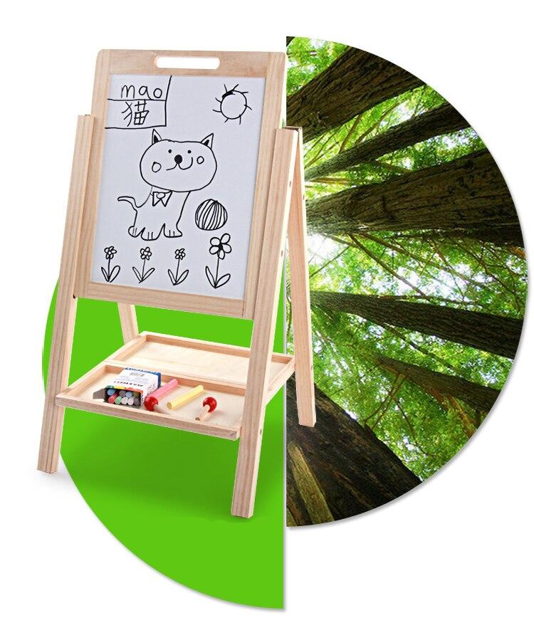 Tableau noir en bois réglable en hauteur Double face planche à dessin enfants apprenant tableau d'écriture Double face - 6