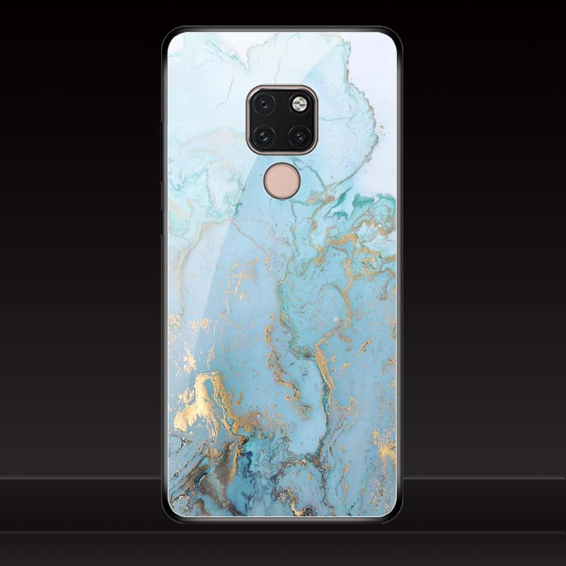 Geruide Phone color printing For Huawei Mate 20 pro case Tempered Glass For Huawei Mate 20 X mate 20 lite Cover case in Phone Bumpers from Cellphones Telecommunications