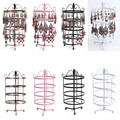 Fashion Four-storey Metal Rotating Earring Display Jewelry Display Shelf Earring Holder Jewelry Organizer Earrings Display Stand