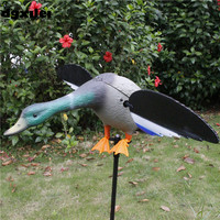 Wholesale 4 AA Battery Outdoor Hunting Duck Electronic Decoy Duck Decoys For Hunting With Magnet Spinning