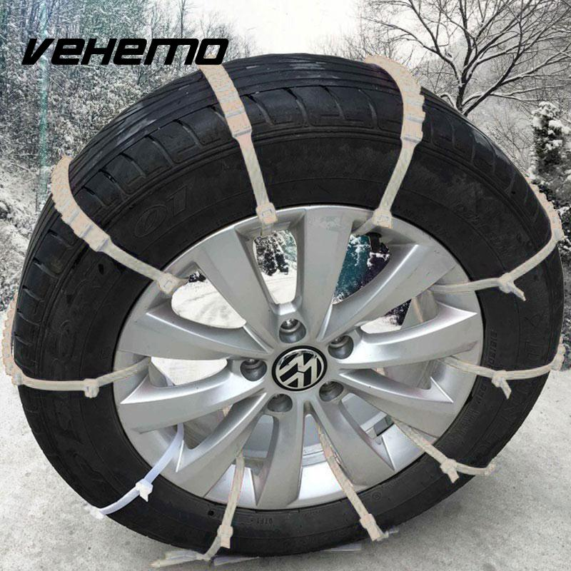 Snow Mud Tyre Safety Anti-Skid Chain Car Truck Wheel Tire Nylon Ribbon Tie Cable