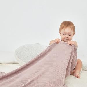 Image 5 - Bebek battaniye örme % 100% pamuk yenidoğan bebek kundak battaniyesi battaniye 100*80cm kış sıcak yürümeye başlayan bebek arabası yatak örtüleri