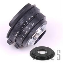 עין דג עדשת 8mm F3.8 עבור C הר מצלמה + C למייקרו M4/3/NEX/ n1/Pentax Q/פוג י/M M2 מתאם טבעת עבור DSLR מצלמה