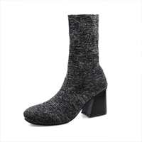 Short Boots Women Fall 2017 Han Edition Fashion Boots Thin Leg Stretch Boots For Thick With