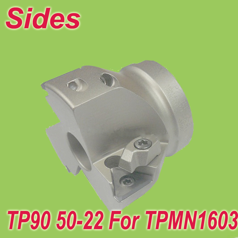 Free Shiping  TP90 50-22-3T 90 Degree Rough Machining Shoulder Face Mill Head for TPMN16