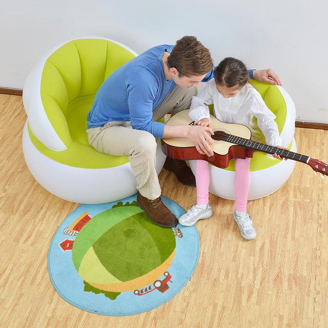 Novo 2016 dos desenhos animados os bebês aprendem fezes cadeira de bebé cadeira de banho do bebê inflável pequeno sofá inflável cadeira portátil terno