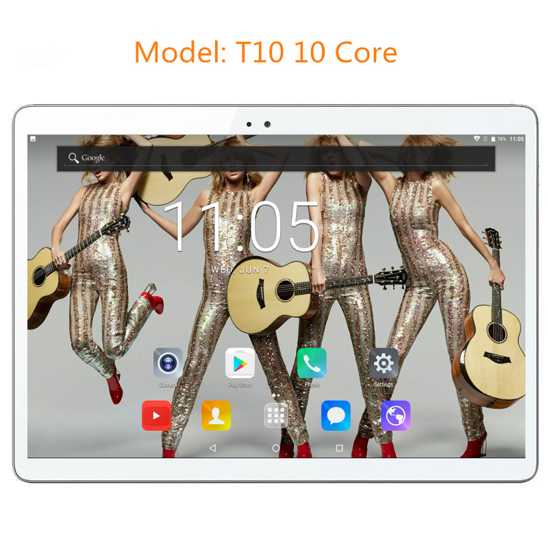 Newest T10 10 inch 10 Core Tablet PC Android 7.0 4GB RAM 128GB ROM 1920*1200 IPS Screen 4G LTE 8.0 MP Camera DHL free shipping