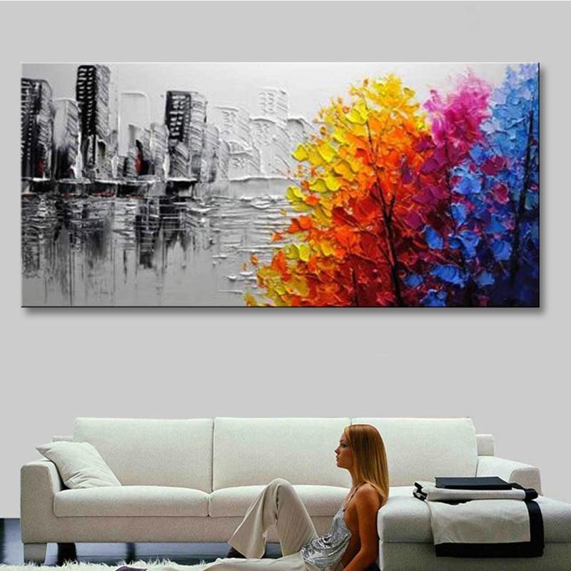 Main peinture à l'huile sur toile moderne 100% Meilleur Art peinture à l'huile Abstraite originale directement à partir artis COX1-001