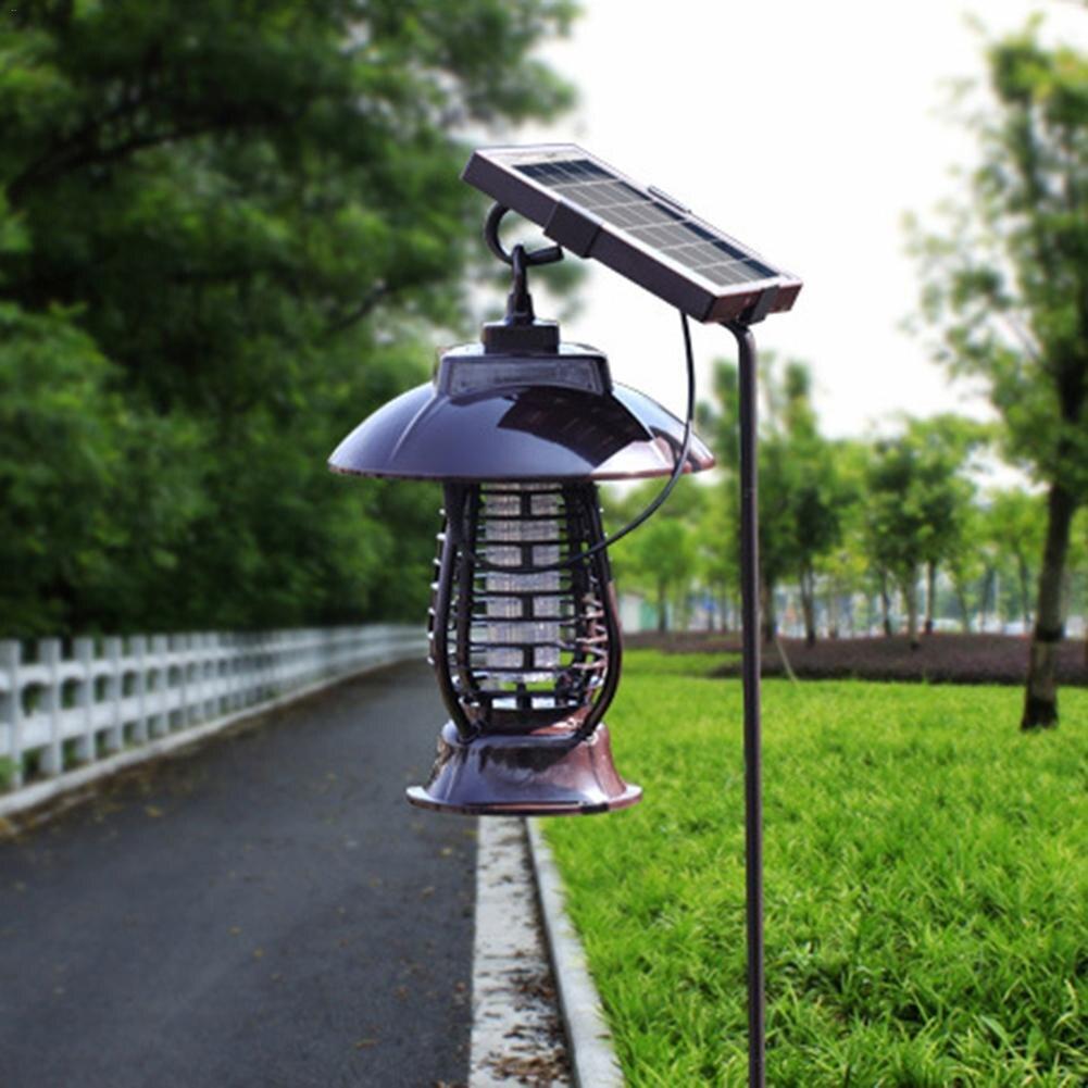 Солнечный Мощность Москитная Убийца свет Отпугиватель комаров свет насекомых убийство лампа для Висячие сады открытых местах вредителями ...
