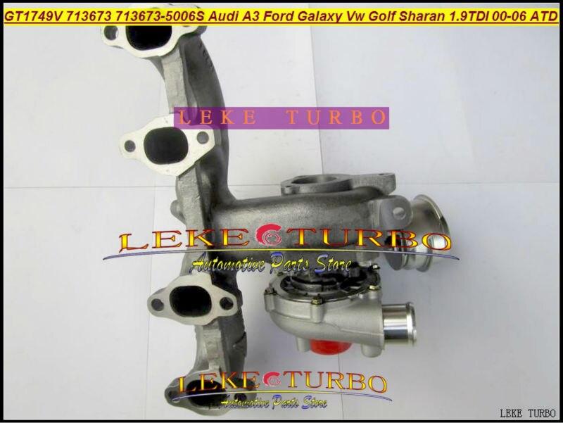 Free Ship GT1749V 713673-5006S 713673 Turbocharger For Audi A3 For Ford Galaxy VW Golf Sharan Octavia I 00- ATD AUY AJM 1.9L TDI