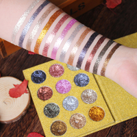 IMAGIC Eyeshadow 12 Colors Palette Glitter Pressed Glitters Eye Shadow Diamond Rainbow Cosmetic Pressed Eye Shadow