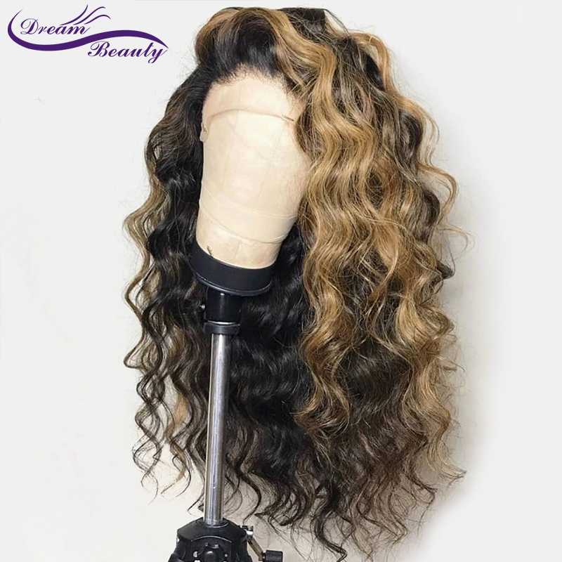 wicca fashion Ombre 1b/30 Color Lace Front Human Hair Wigs with Baby Hair Pre-Plucked Hairline Non Remy Brazilian Hair