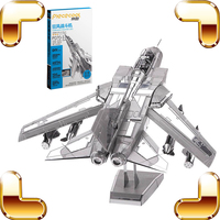 New Arrival Gift Tornado Fighter Jets 3D Metal Model Plane DIY Assemble Toy Game Alloy Military