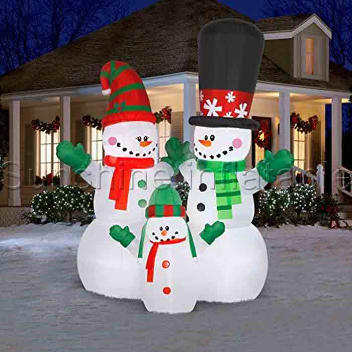 Inflatable Christmas Decorations.Us 385 0 1 8m 6ft Polyester Inflatable Christmas Snowman Family Popular Inflatable Christmas Decorations In Inflatable Bouncers From Toys Hobbies