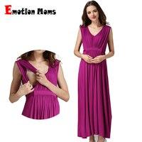 Emotion Moms ropa de maternidad vestido de lactancia embarazada ropa de embarazo para mujeres embarazadas vestidos largos de maternidad tamaño europeo