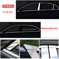 TOMMIA Full Window Middle Pillar Molding Sill Trim Chromium Styling Strips Stainless Steel For Volkswagen jetta