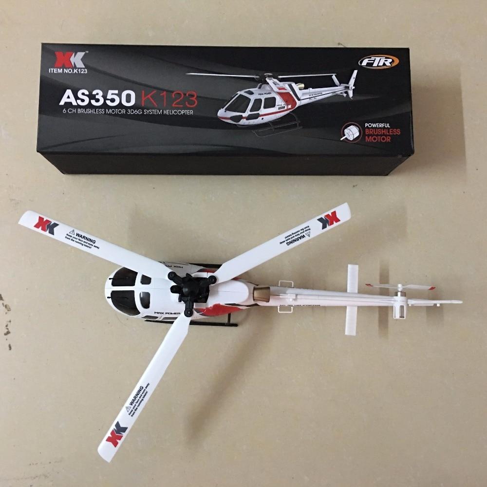 XK K123 BNF wersja 2 (bez pilot zdalnego sterowania, baterii, ładowarki) tylko helikopter bezszczotkowy AS350 skala 3D6G System w Helikoptery RC od Zabawki i hobby na  Grupa 2