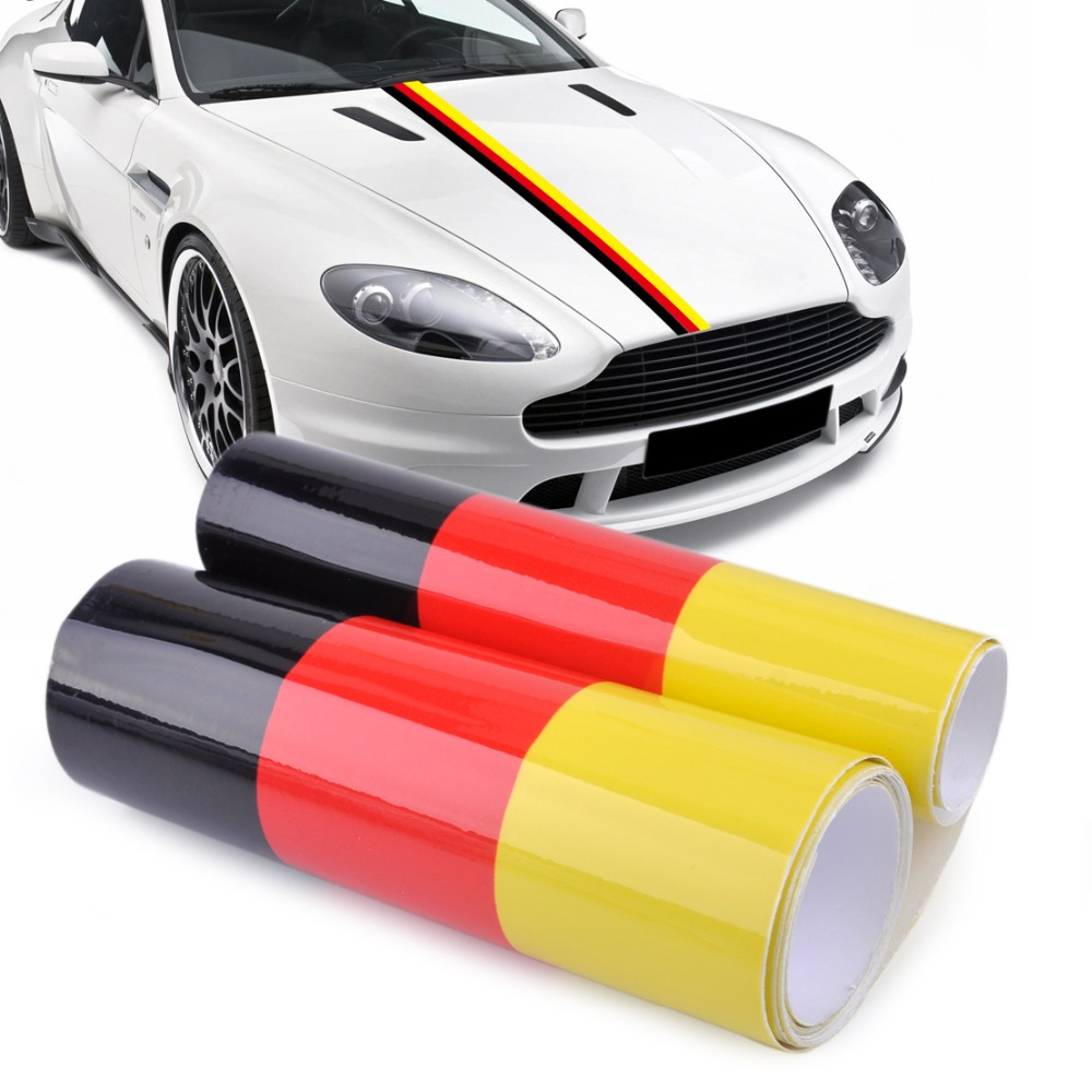 CITALL 1.5M DIY Germany Flag Sticker Car Auto Hood Body Roof Bumper Decal Stripe Decor for Mercedes Mazda VW Audi Kia <font><b>Toyota</b></font> BMW image