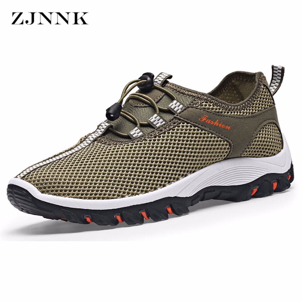 ZJNNK Hot Sale Summer Men Shoes Breathable Male Casual Shoes Fashion Chaussure Homme Mesh Zapatos Hombre Men Outdoor Shoes H6632 2017 new chaussure homme mens shoes casual leather vulcanize hip hop white men platform summer hot sale breathable black shoes