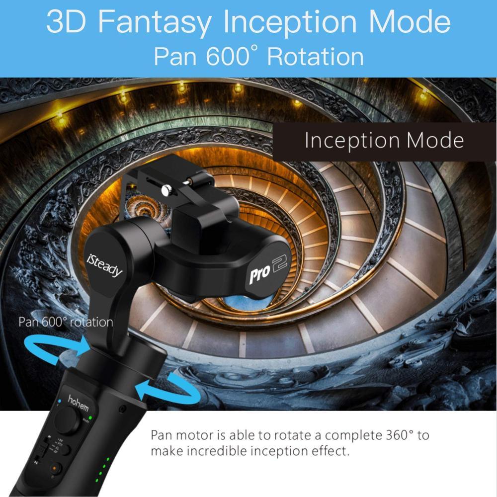 HOHEM iSteady Pro 2/Pro 3 осевая карманная брызгозащищенное с шарнирным замком для DJI Osmo Экшн камера Gopro Hero 7/6/5/4/3 SJCAM YI Action Камера - 3