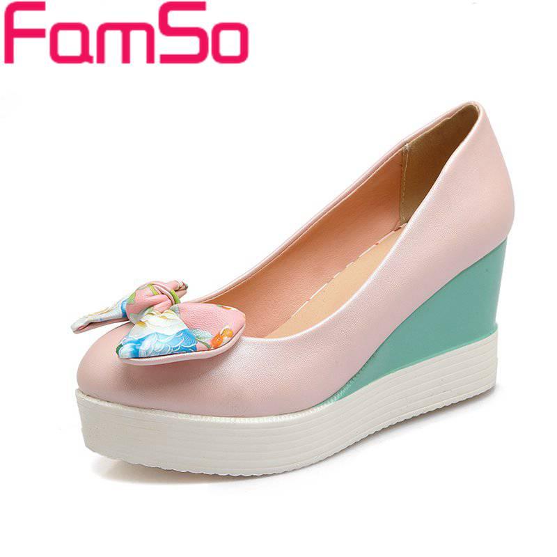 EURO Size34 42 2016 New font b Women b font Pumps Autumn Wedges Pumps High heels