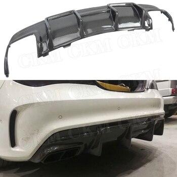 Karbon Fiber Arka Dudak Spoiler Difüzör Benz CLA Sınıf W117 CLA200 CLA250 CLA260 CLA45 2013-2019 Ile FRP 4 çıkışlı Egzoz