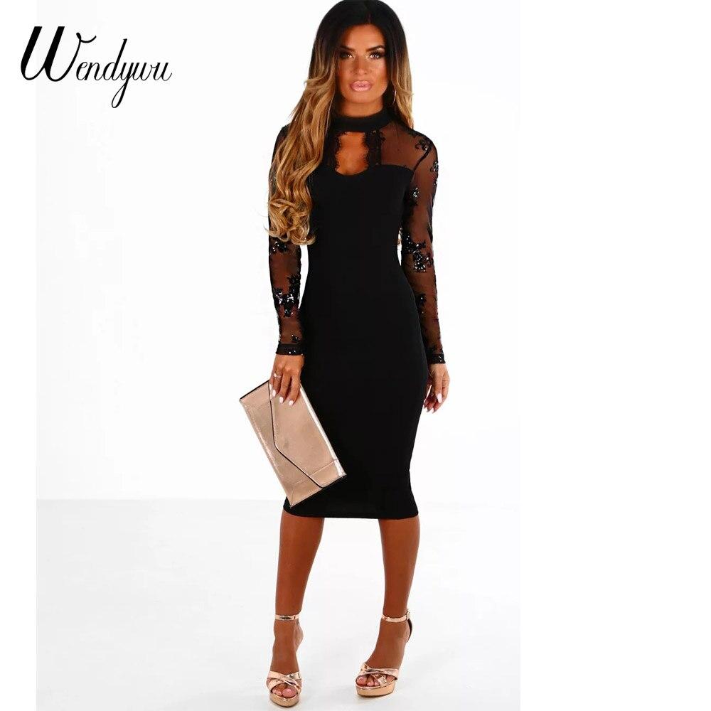 Black knee length bodycon dress sizes