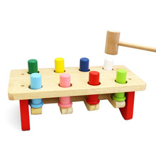 Early Educational Development Toys Wood Noise Maker Baby Toys Musical Instrument China Wooden Pilling Knocking Table Toy for Kid