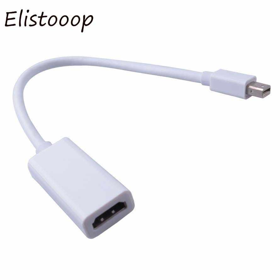 Elistooop złącza Thunderbolt Mini DisplayPort Display Port DP męski na HDMI żeński adapter na kabel do konwertera dla komputerów Mac Macbook Pro Air
