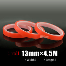 Hot Sale 13mm x 4.5M High Strength Acrylicheavy duty double sided tape Red Tape For Phone LCD Screen