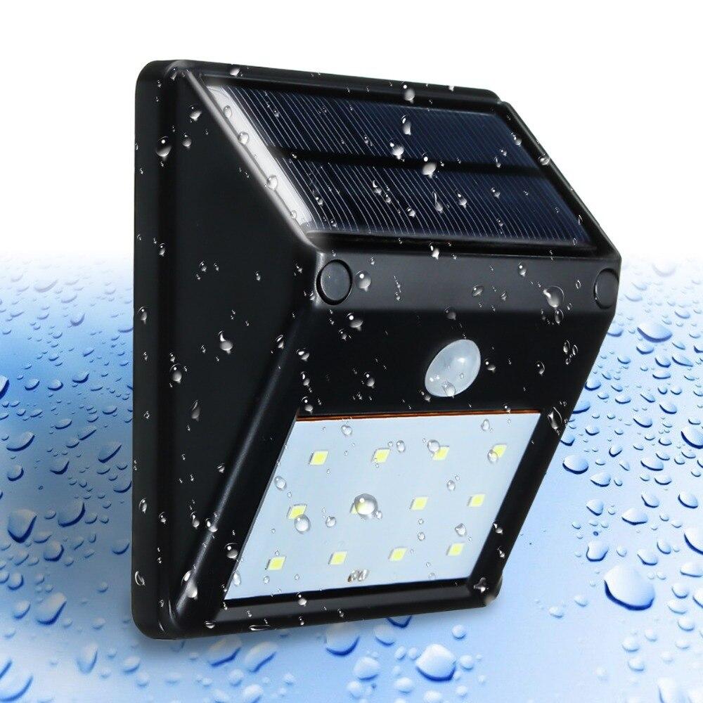 Mising 12 luz Solar LED iluminación al aire libre PIR Sensor de movimiento luz de la noche Solar ahorro de energía impermeable luz Solar del jardín