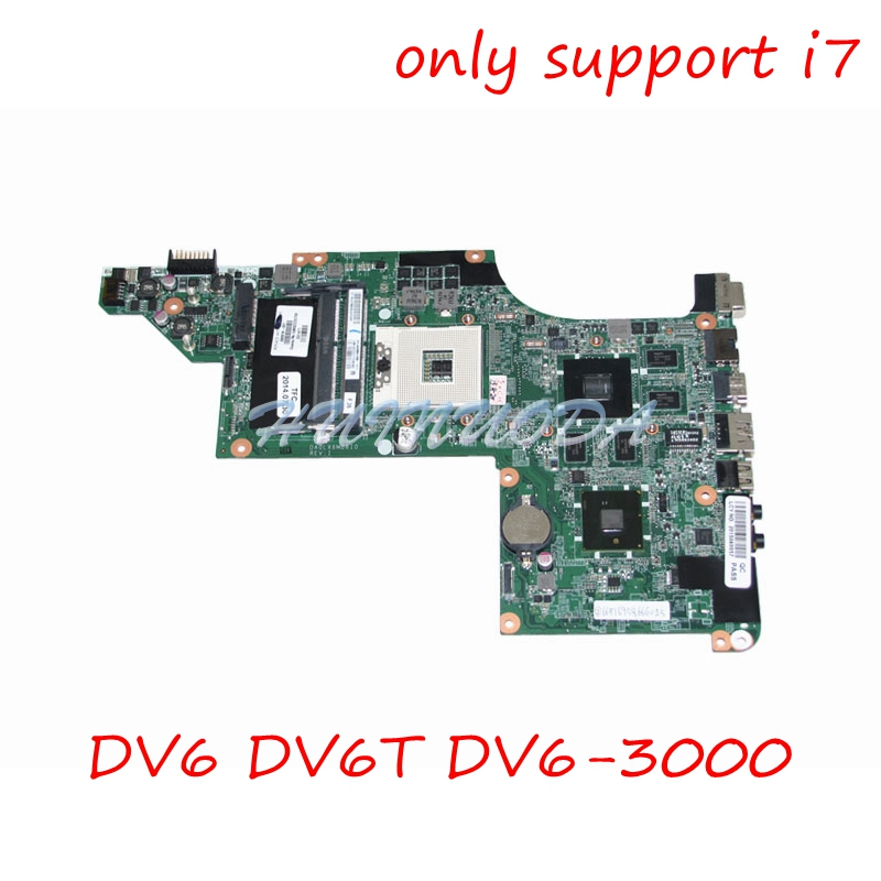 630278-001 592816-001 Main board For HP Pavilion DV6 DV6-3000 Laptop motherboard HM55 DDR3 HD5650 1GB Support I7 CPU Only 657146 001 main board for hp pavilion g6 laptop motherboard ddr3 with e450 cpu