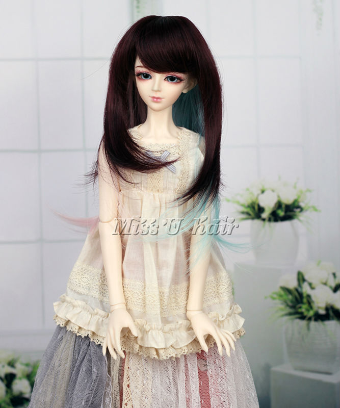 "1//4 Girl BJD SD Doll Wig Dollfie 7/"" DZ DOD LUTS Bjd Doll Wig Long Straight hair"