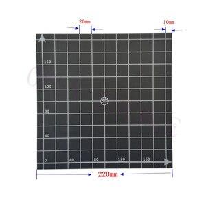 Image 2 - 5 sztuk 220x220mm BuildTak gorące łóżko naklejki współrzędnych drukowane podgrzewane łóżko naklejka na powierzchnię F/ Wanhao i3, Anet A8 A6 Prusa 3D drukarki