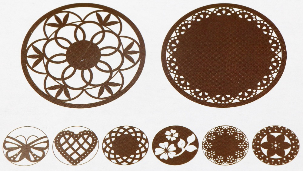 Flower Plantilla Stencil Bakeware 8PCS SET Baking Fondant Cake Decorating Tools For Cupcake Template Mold Spiral In Molds From Home Garden On